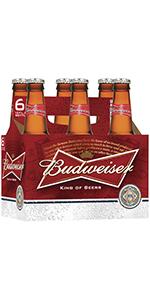 Budweiser 12 oz Bottles 6 Pack