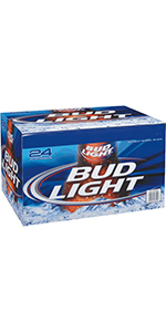 Bud Light 24 Bottles 2/12 Packs