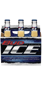 Bud Ice 6 Pack Bottles 12oz