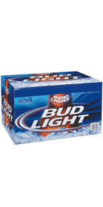 Bud Light Loose Case 24 Pack Bottles