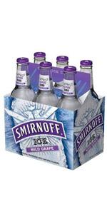 Smirnoff Ice Grape 6 Pack Bottle