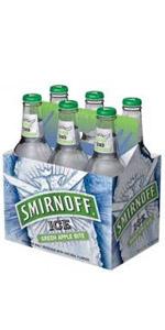 Smirnoff Ice Apple 6 Pack Bottle