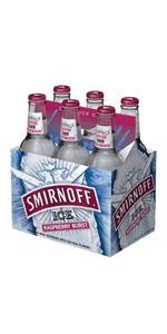 Smirnoff Ice Raspberry 6 Pack Bottles