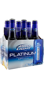 Bud Light Platinum 6 Pack Bottle