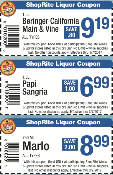 image about Wine Coupons Printable titled Inside-Shop Printable Discount coupons For Shoprite Wines Spirits of