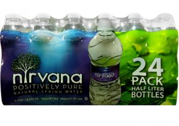 Nirvana Water 24 Pack Bottles Local Delivery Beverage