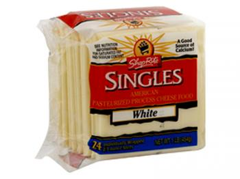 White American Cheese Slices