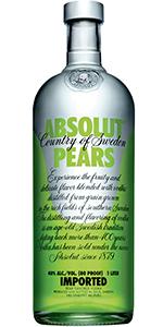 Absolut Pear Vodka 1L