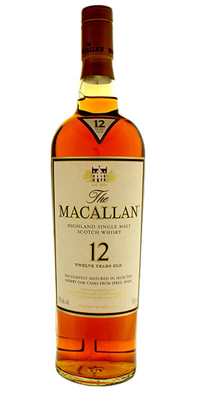 Macallan 12 Year Malt Scotch 750ml