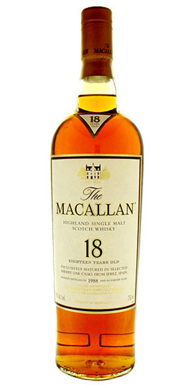 Macallan 18 Year Old Malt Scotch 750ml